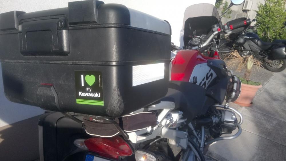 I love Kawasaki on BMW