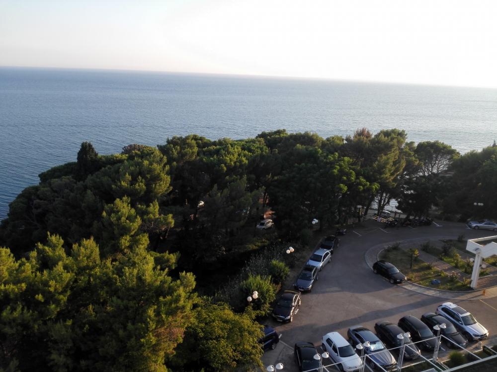 Výhľad z hotela Albatros v Uljcine