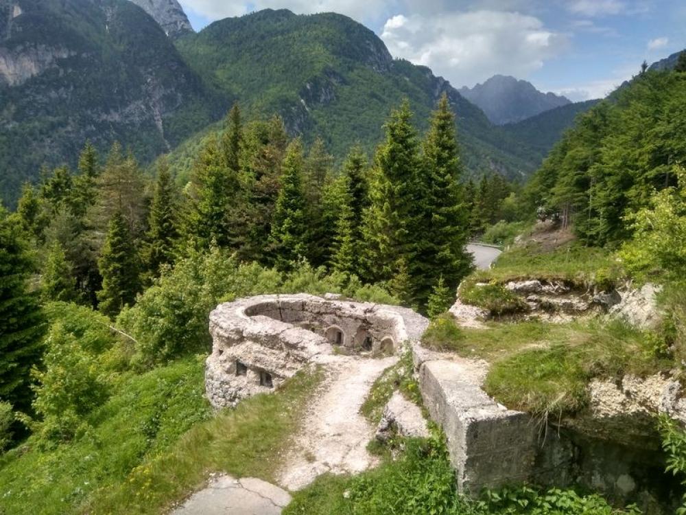 Passo di Predil Pevnosť, Slovinsko