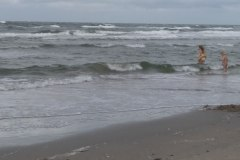 Romo, deti sa kupu v severnom mori