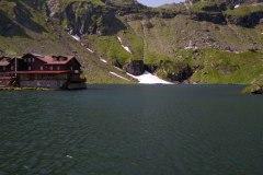 Pleso Lacul Ballea na vrchu Transfagarasa