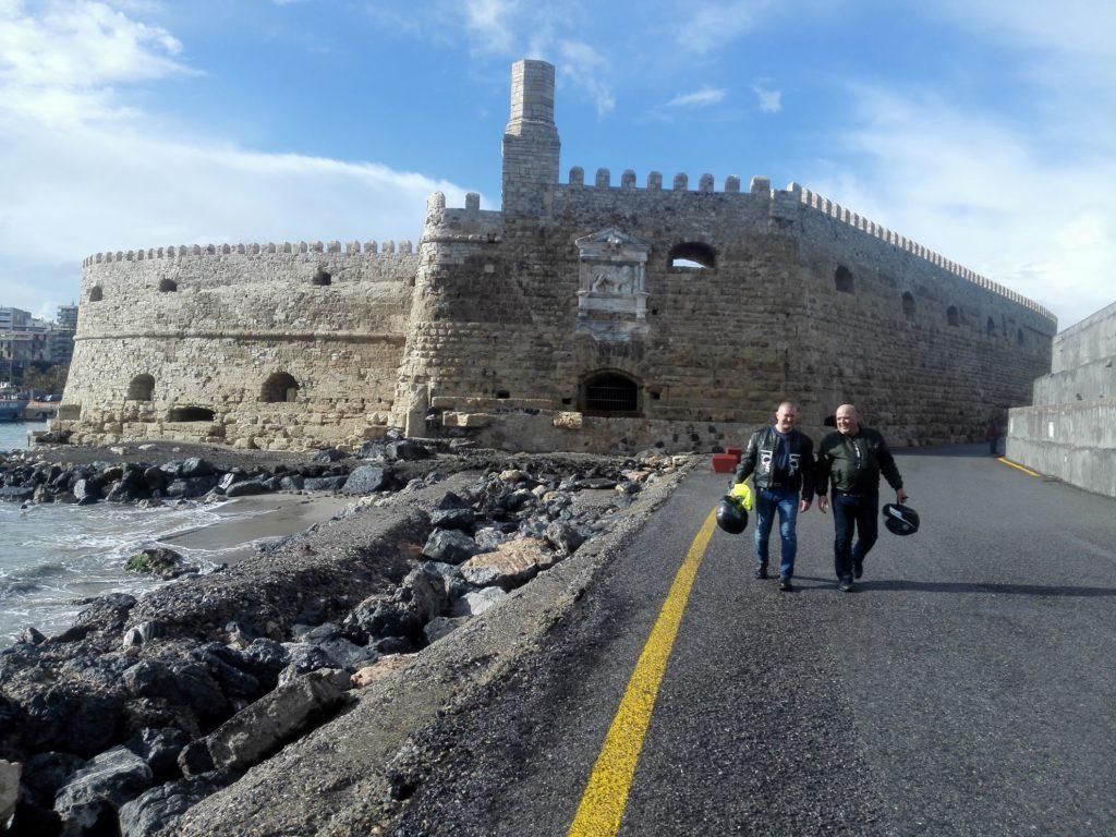 Benátska pevnosť, Heraklion, Kréta na motorkách