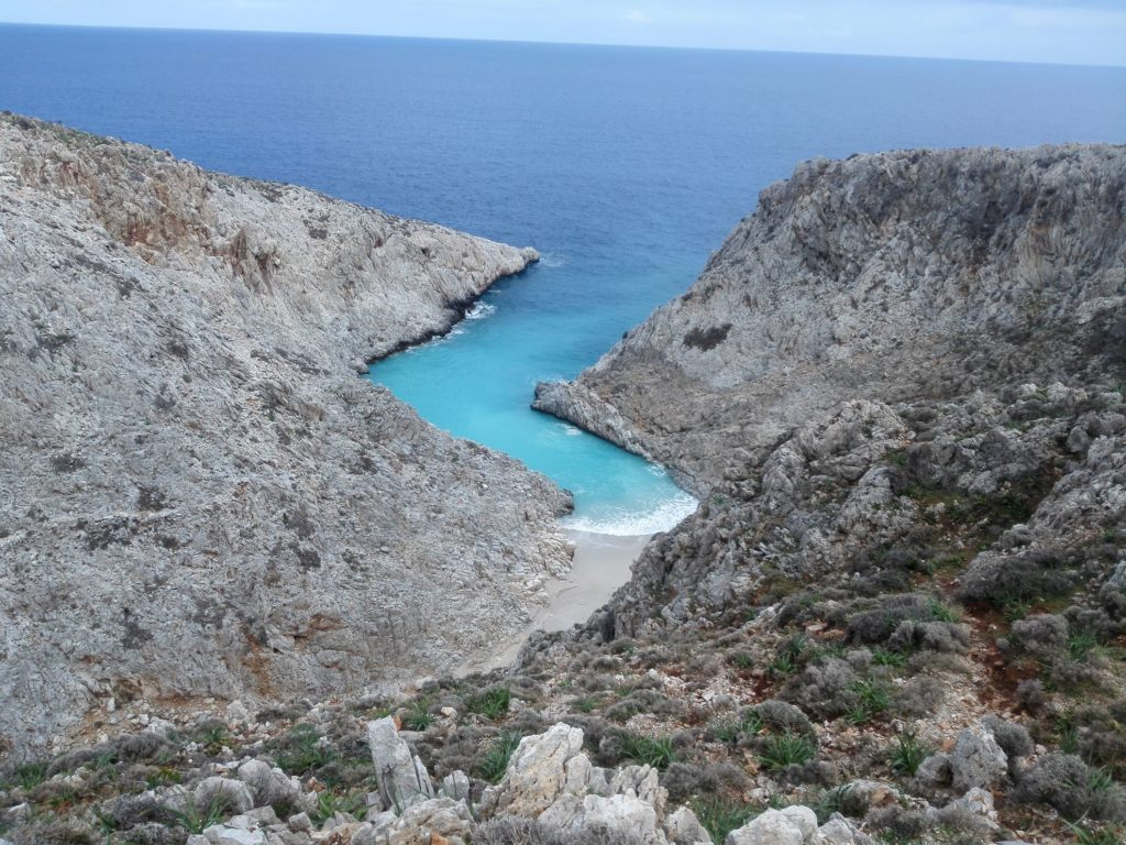 Seitan limania pláž, Kréta